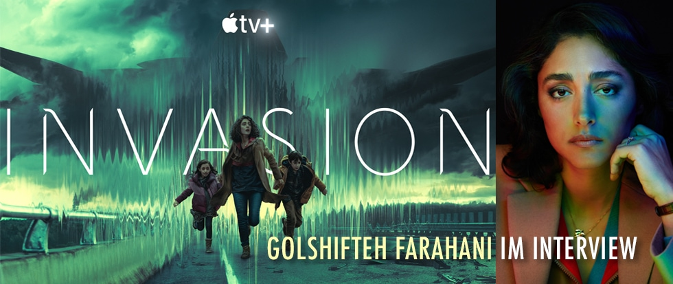 GOLSHIFTEH FARAHANI  IM INTERVIEW ZU INVASION AUF APPLE TV +